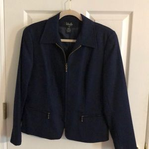 Navy wool blazer
